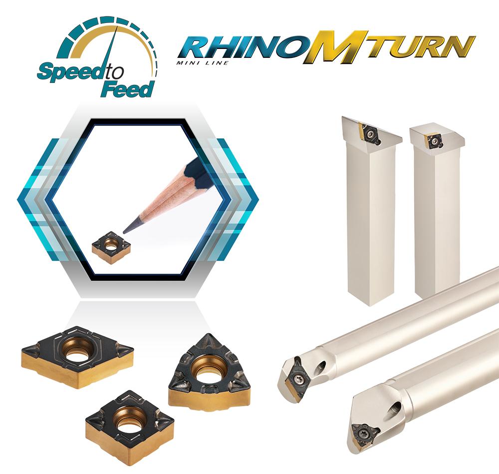 Новая токарная серия RhinoMTurn для обработки небольших изделий