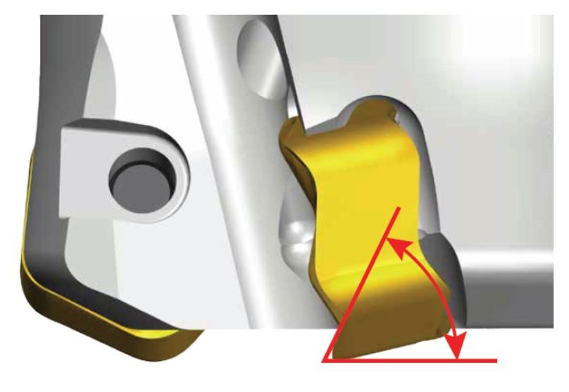 Схематическое изображение обработки фрезой CHASE-10-MILL